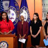 Ayanna Pressley, Ilhan Omar, Alexandria Ocasio-Cortéz og Rashida Tlaib holdt en pressekonference natten til tirsdag, hvor de svarede igen på Trumps angreb mod dem.