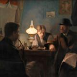 L.A Rings »Et besøg i et skomagerværksted« fra 1885 er et af de værker, som Statens Museum for Kunst sender på udstilling i USA.