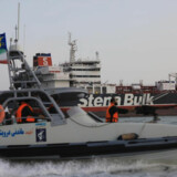 Arkivfoto. Fredag d. 19 juli blev det britiske olietankskib Steno Impero tilbageholdt af Iran da det forsøgte at sejle gennem Hormuzstrædet.