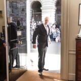 Boris Johnson ses her på vej ind i 10 Downing Street, hvor den britiske premierminister bor og arbejder. Han holdt onsdag sin første tale og erklærede, at Brexit vil finde sted 31. oktober.