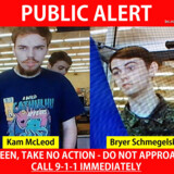 19-årige Kam McLeod og 18-årige Bryer Schmegelsky (th.) er på flugt fra politiet, som har efterlyst dem i hele Canada og advaret mod, at de er farlige og bevæbnede. De er mistænkt for mordene på den 23-årige australier Lucas Fowley, hans 24-årige amerikanske kæreste Chynna Deese og en midaldrende canadisk mand ved navn Leonard »Len« Dyck.