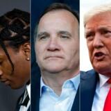Fængslingen af den amerikanske rapper A$AP Rocky får den amerikanske præsident til at ytre skarp kritik af Sverige(Photos by AFP). (Foto: DAVID MCNEW, THOMAS SAMSON, ROBERTO SCHMIDT/Ritzau Scanpix)