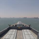 Det britiske krigsskib HMS Duncan sejlede for få dage siden igennem Suez-kanalen med kurs mod Hormuzstrædet. Ud over Storbritannien har også USA bedt flere lande bidrage militært til en mission i området. Handout/Reuters