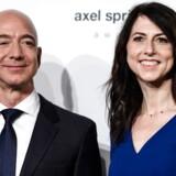 Jeff Bezos og MacKenzie Bezos, mens de stadig var gift.