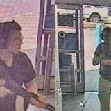 Overvågningsbilleder viser den 21-årige Patrick Crisius på vej ind i Walmart. Han var bevæbnet med netop den slags våben, der er til størst debat i USA en såkaldt – heavy assault rifle.