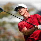epa07743182 Thorbjorn Olesen of Denmark watches his tee shot on the sixteenth hole during the second round of the World Golf Championships FedEx St. Jude Invitational tournament at TPC Southwind in Memphis, Tennessee, USA, 26 July 2019. Championship play runs 25 July to 28 July. EPA/TANNEN MAURY