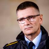 Chefpolitiinspektør Jørgen Bergen Skov fra Københavns Politi gjorde onsdag formiddag status over efterforskningen af tirsdagens eksplosion ved Skattestyrelsens bygning på Østerbro.