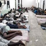 Fotografer og journalister får yderst sjældent adgang til Libyens migrantfængsler. Billedet fra 2017 er taget i et detentionscenter vest for den libyske hovedstad, Tripoli.