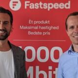 Der er brede smil hos to af stifterne af bredbåndsleverandøren Fastspeed, kommerciel direktør Morten Boe Andersen (til venstre) og administrerende direktør Jens Raith, efter de første tre måneder på markedet. Foto: Fastspeed