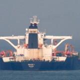 Det iranske tankskib »Grace 1«. (Arkivfoto).