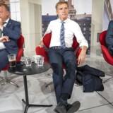 »Min bedste anbefaling til dem, der vil trække Venstre tilbage i folden, er at vise, at man faktisk vil lave politik,« skriver Søren Pind. Lars Løkke Rasmussen (V), Kristian Thulesen Dahl (DF) og Søren Pape (K) på billedet.