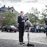 Statsminister Mette Frederiksen (S) holdt onsdag eftermiddag pressemøde ved Udenrigsministeriet, hvor flere udenlandske journalister også var dukket op.