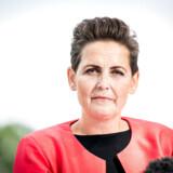 SF formand Pia Olsen Dyhr til pressemøde efter sommergruppemødet på Konventum i Helsingør, torsdag den 22. august 2019.. (Foto: Niels Christian Vilmann/Ritzau Scanpix)