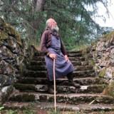 Trappen og muren har adskillige hundrede år på bagen – dem havde Tage Andersen overset, da han købte Gunillaberg, men i dag sætter han stor pris på dem.