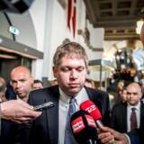 Rasmus Paludan på valgdagen i juni. Partiet fik som bekendt 1,79 procent af stemmerne og dermed ikke nok til at komme i Folketinget.
