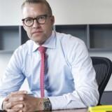 Jakob Riis, da han stiller op til første interview som chef for Falck, i 2017.