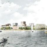 En skitse fra de oprindelige planer for Lynetteholmen. Nu er planerne ændret markant.