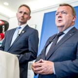 Arkivfoto af Lars Løkke og Kristian Jensen, der fortsat er formandskabet i Venstre.