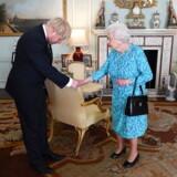 Boris Johnson gør sig klar til at bede Dronning Elizabeth om at suspendere parlamentet. Her mødtes de i juli, efter at han blev udpeget til ny formand for Det Konservative Parti.