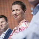 Statsminister Mette Frederiksen under Socialdemokratiets pressemøde efter sommergruppemøde på Marienborg i Kongens Lyngby. Mads Claus Rasmussen/Ritzau Scanpix