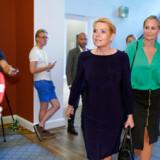 Inger Støjberg og Britt Bager ankommer til Venstres gruppemøde på Christiansborg, onsdag den 28. august 2019. . (Foto: Martin Sylvest/Ritzau Scanpix)