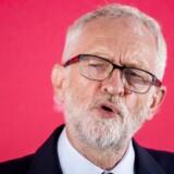 Spørger man Tony Blair, er Corbyns person afgørende for udfaldet af Brexit-kampen – og det er ikke ment positivt. Her holder Labour-lederen Jeremy Corbyn en tale i Manchester 2. september 2019.