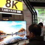 Fladskærmsfjernsyn med en billedopløsning i 8K giver en hidtil uset detaljerigdom. De begynder for alvor at komme til salg i løbet af efteråret, selv om der ikke er meget indhold, der er optaget i så høj en billedkvalitet. Arkivfoto: David Chang, EPA/Ritzau Scanpix