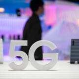 Samsung har sine 5G-klare smartphones med på Europas største messe for forbrugerelektronik, IFA, i Berlin. Flere andre mobilproducenter er også klar. Foto: Omer Messinger, EPA/Ritzau Scanpix