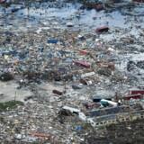 Luftfoto fra Great Abaco Island i det nordlige Bahamas efter kæmpeorkanen Dorians usædvanligt langvarige rasen. Dødstallet er endnu ukendt, men må forventes at være »svimlende« højt, advarer landets myndigheder.