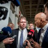Rasmus Paludan ankommer til valgfesten hos Stram Kurs på Christiansborg i København under Folketingsvalget 2019, onsdag den 5. juni 2019.