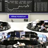Aktier i Europa hoppede op og ned torsdag, efter at Den Europæiske Centralbank annoncerede et kæmpe støtteprogram. Foto: Reuters/Ritzau Scanpix