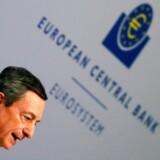 Boligrenterne faldt, da chefen for Den Europæiske Centralbank, ECB, Mario Draghi torsdag som ventet satte eurorenten ned. Men fredag er renterne mod forventning begyndt at stige.
