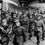 De dokumenter og billeder, der blev stjålet under det store tyveri fra Rigsarkivet, knyttede sig overvejende til sagerne om de danskere, der tilsluttede sig bl.a. Frikorps Danmark, som ses på billedet.