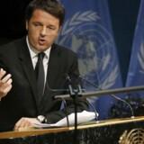 Den italienske premierminister Matteo Renzi.