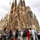 Ofrene for Barcelona-angrebet mindes i kirken La Sagrada Familia.