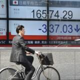 Yen er blevet svækket over for en lang række af den japanske valutas vigtigste modstykker. AFP / KAZUHIRO NOGI