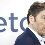 CEO André Rogaczewski præsenterer børsnoteringen af Pressemøde om børsnoteringen af Netcompany ved et pressmøde formiddag d. 23 maj.