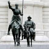 Interessen for Don Quijote lever i bedste velgående i Spanien, hvor et forskerhold for nylig gjorde et fund, som peger i retning af, at Miguel de Cervantes mere end 400 år gamle romanfigur, der på billedet ses i statueform i selskab med sin væbner Sancho Panza på Plaza de Espana i Madrid, ikke er så opdigtet endda.