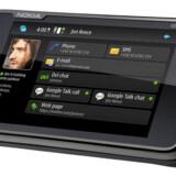 Nokias nye N900 minder i brugerfladen ikke så lidt om den nyligt lancerede N97, men N900 er Nokias første Linux-telefon. Foto: Nokia