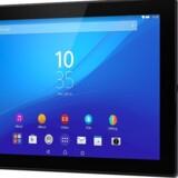 Xperia Z4 Tablet er Sonys helt nye tavle-PC på 10 tommer, igen vandtæt. Sony Mobile havde dog ikke en ny Xperia-toptelefon med på Mobile World Congress som afløser for Xperia Z3 og Xperia Z3 Compact. Foto: Sony Mobile