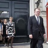 Lars Løkke præsenterer sin nye regering på Amalienborg.