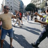 Stemningen er kaotisk i Barcelonas gader efter aftenens angreb.