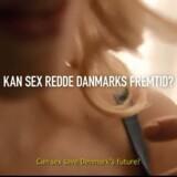 »Kan sex redde Danmarks fremtid?« spørger spies i »Do it for Denmark« reklamen