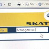 Næsten 2,8 millioner danskere har siden fredag aften været inde på Skats hjemmeside for at tjekke deres årsopgørelse og ved dermed, om de skal have penge tilbage eller står til en ekstraregning. Arkivfoto.