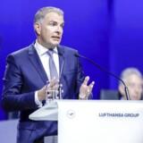Carsten Sphor, topchef i Lufthansa, er i dialog om et opkøb af Norwegian. Arkivfoto: Ronald Wittek/EPA/Scanpix