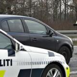 Grænsekontrol mellem Danmark og Tyskland, her på E45 ved den dansk-tyske-grænse.