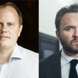 Martin Henriksen (tv) og Dan Jørgensen.