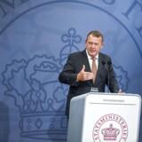 Statsminister Lars Løkke Rasmussen præsenterer regeringens Helhedsplan - for et stærkere Danmark. Præsentationen finder sted ved et pressemøde i Spejlsalen kl. 10.00. Tirsdag den 30. august. (Foto: Ólafur Steinar Gestsson/Scanpix 2016)