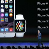 Apples smartur, Apple Watch, kommer i tre modeller til april og virker kun sammen med nyere iPhone-telefoner. Arkivfoto: Justin Sullivan, Getty Images/AFP/Scanpix