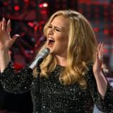 Den britiske verdensstjerne Adele dedikerede sin koncert onsdag aften til Brad Pitt og Angelina Jolie. Reuters/Mario Anzuoni